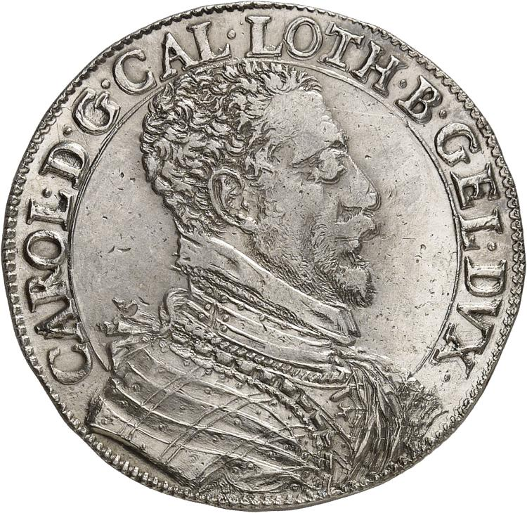 FRANCE FÉODALE Lorraine, Charles III (1545-1608). ½ thaler ou florin d'argent.