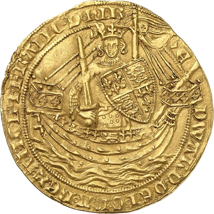 GRANDE-BRETAGNE Edouard III (1327-1377). Noble d'or, Londres.