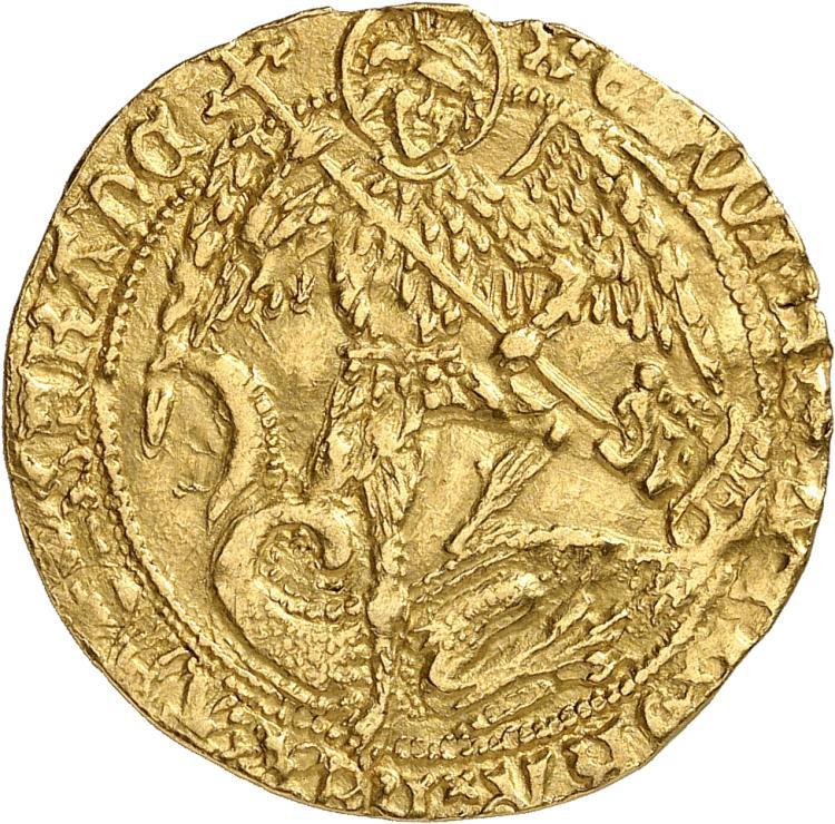 GRANDE-BRETAGNE Edouard IV, 2éme règne (1471-1483). Ange d'or, Londres.