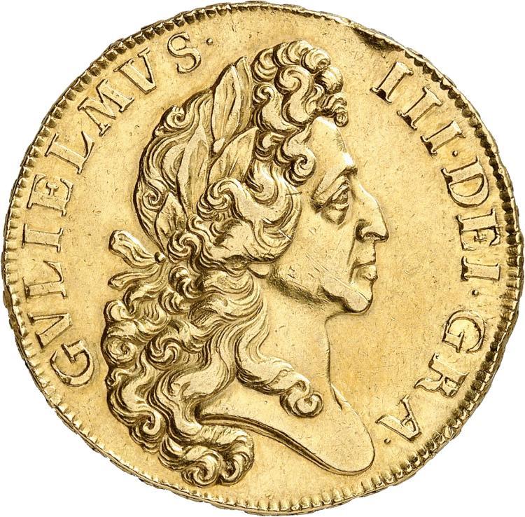 GRANDE-BRETAGNE Guillaume III (1694-1702). 5 guinées 1701.