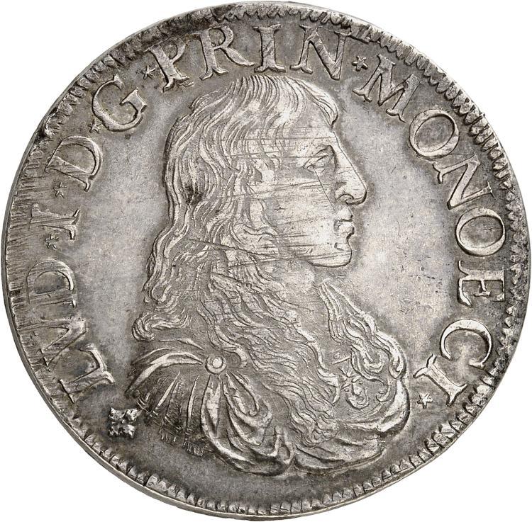 MONACO Louis Ier(1662-1701). Écu 1674.