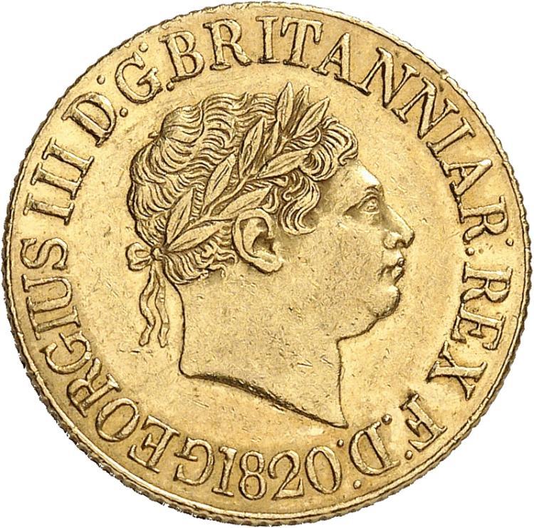 GRANDE-BRETAGNE Georges III (1760-1820). Souverain 1820.