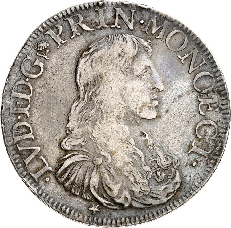 MONACO Louis Ier (1662-1701). Écu 1678.