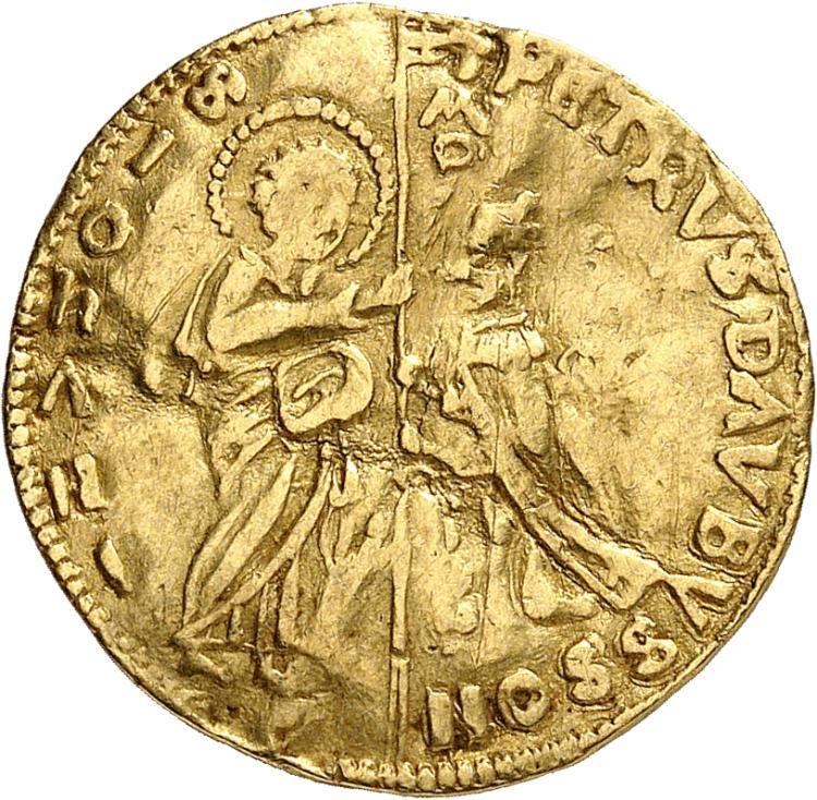 GRÈCE Rhodes, Pierre d'Aubusson (1476-1503). Ducat.