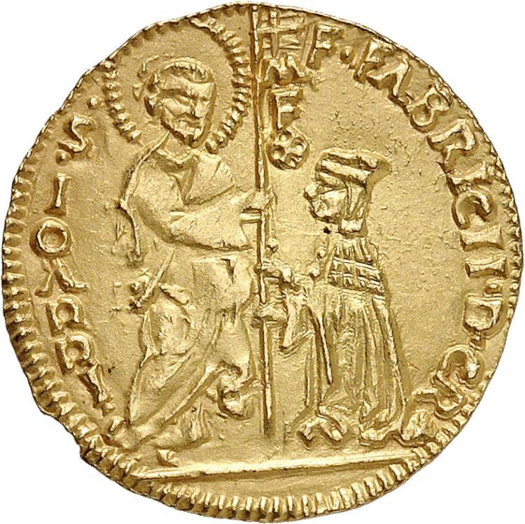 GRÈCE Rhodes, Fabrizio del Caretto (1513-1521). Ducat.