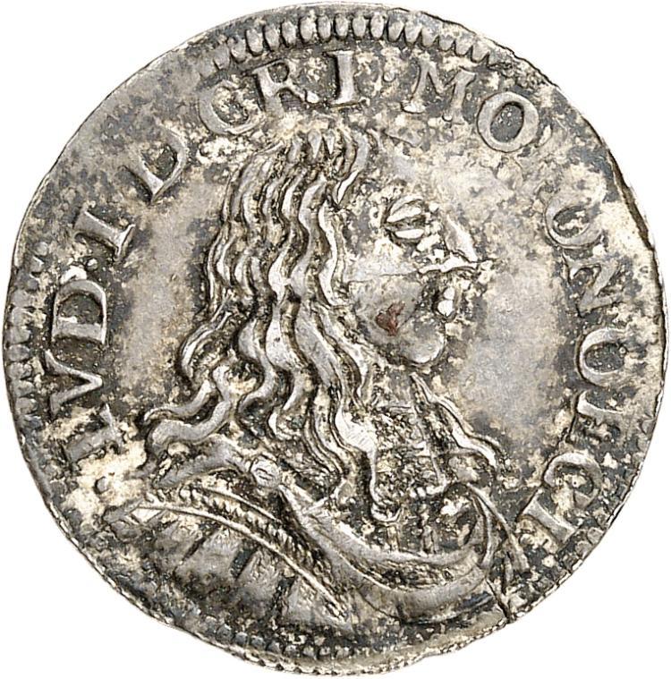 MONACO Louis Ier (1662-1701). 1/12 d'écu 1662.