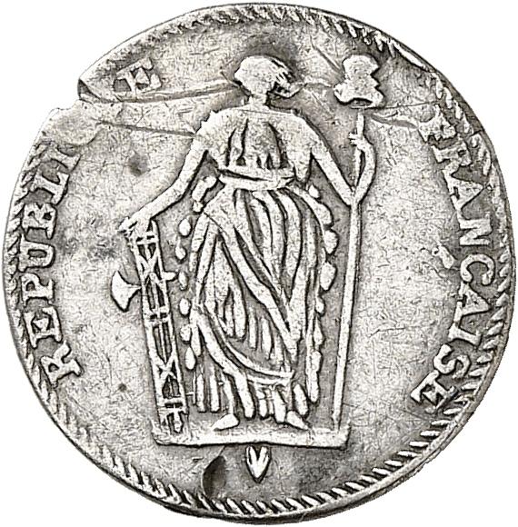 HAÏTI Gouvernement de Toussaint l'Ouverture (1796-1802). ½ escalin.