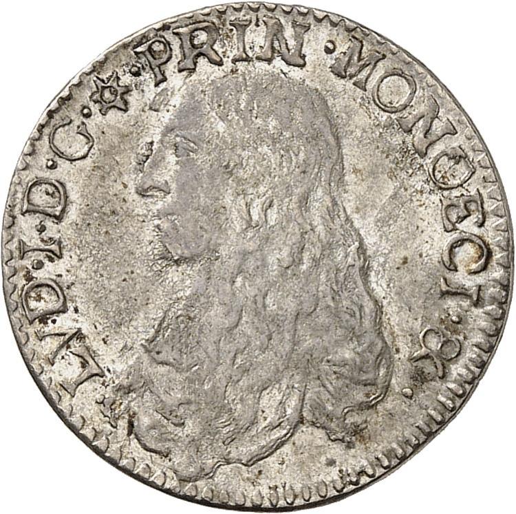 MONACO Louis Ier (1662-1701). 1/12 d'écu 1666.