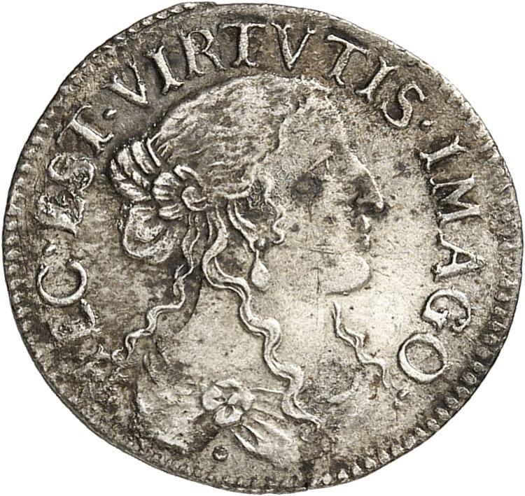 MONACO Louis Ier (1662-1701). 1/12 d'écu 1666. Imitation de Dombes.