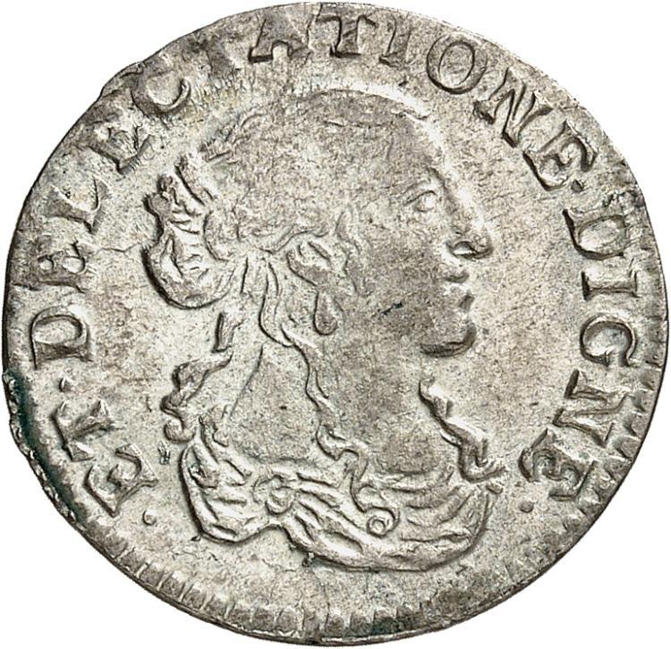 MONACO Louis Ier (1662-1701). 1/12 d'écu 1667. Imitation de Dombes.