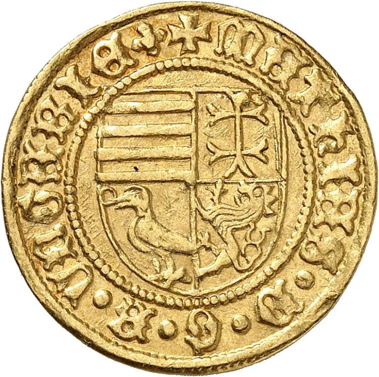 HONGRIE Matthias Corvin (1458-1490). Florin, Nagybanya.