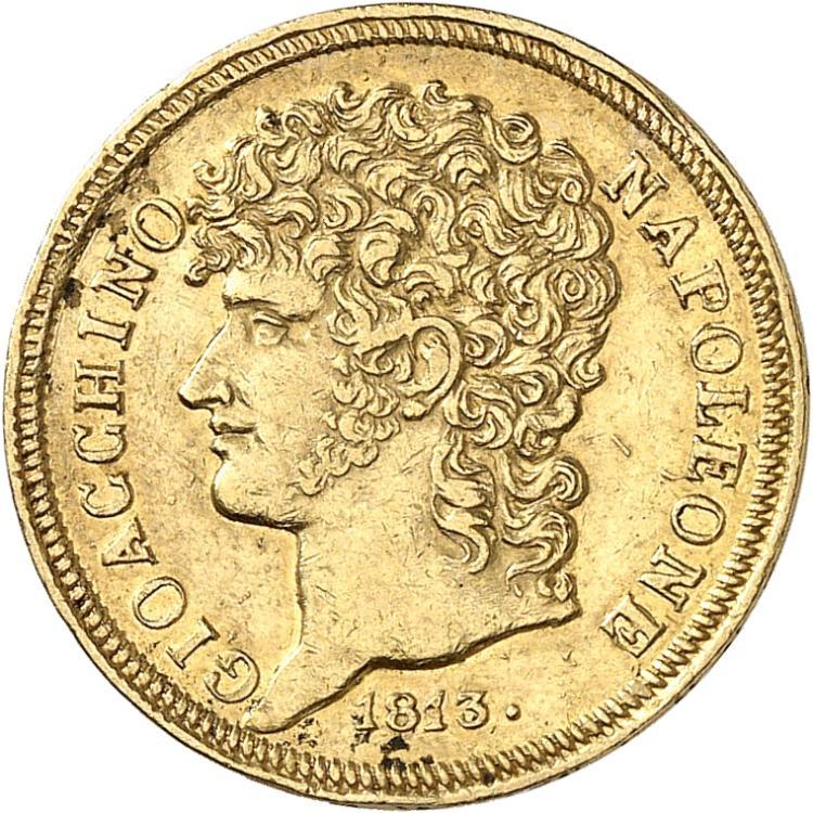 ITALIE Naples, Joachim Murat (1807-1813). 20 lire 1813, Naples.