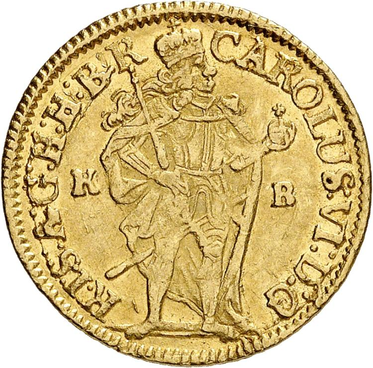 HONGRIE Charles VI (1714-1738). Ducat 1714, Kremnitz.