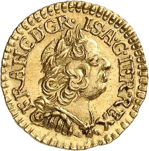 HONGRIE Francois Ier (1745-1765). ¼ de ducat 1760, Nagybanya.