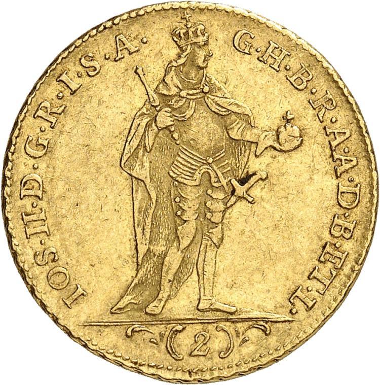 HONGRIE Joseph II (1780-1790). 2 Ducats 1782, Kremnitz.