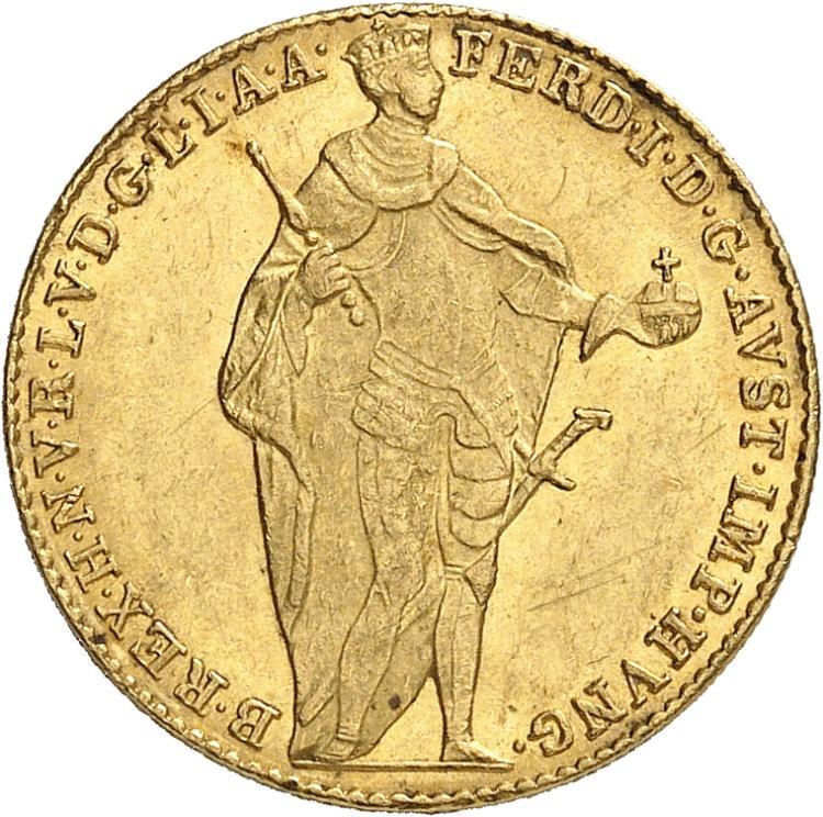 HONGRIE Ferdinand V (1835-1848). Ducat 1846, Kremnitz.