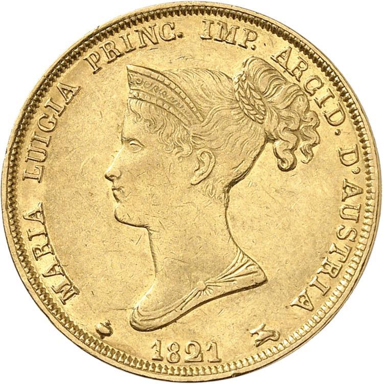 ITALIE Parme, Marie-Louise (1815-1847). 40 lire 1821.