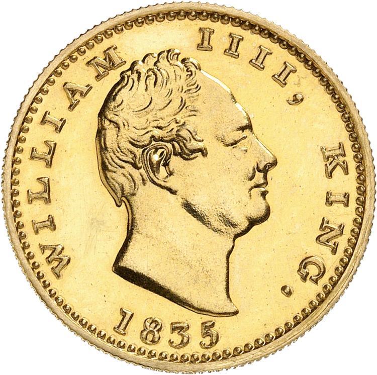 INDE Guillaume IV (1830-1837). Mohur 1835, refrappe.