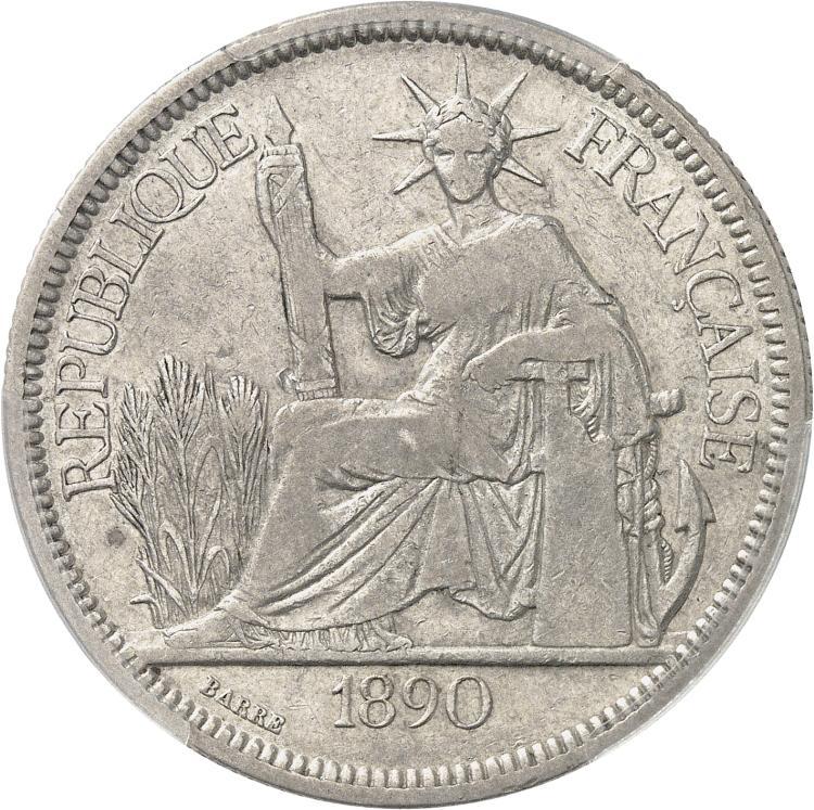 INDOCHINE Piastre 1890, Paris.