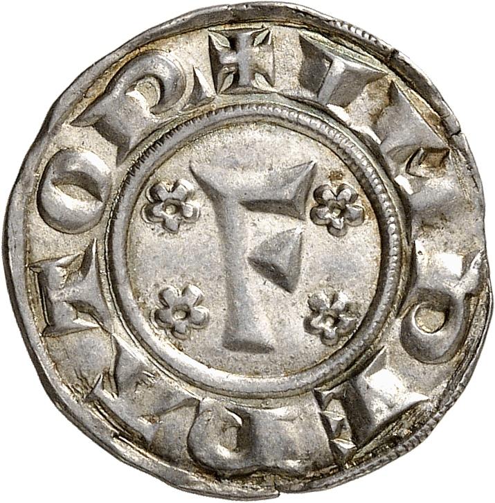 ITALIE Pise, République (1155-1509). Gros de 12 deniers au nom de Federico I 1220-1250.