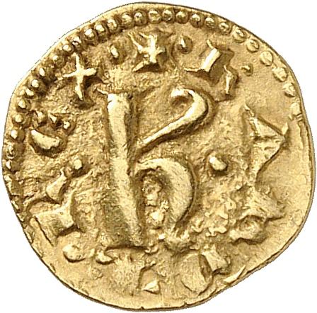 ITALIE Sicile, Messine, Charles d'Anjou (1266-1285). Multiple d'un et demi tari, Barletta.