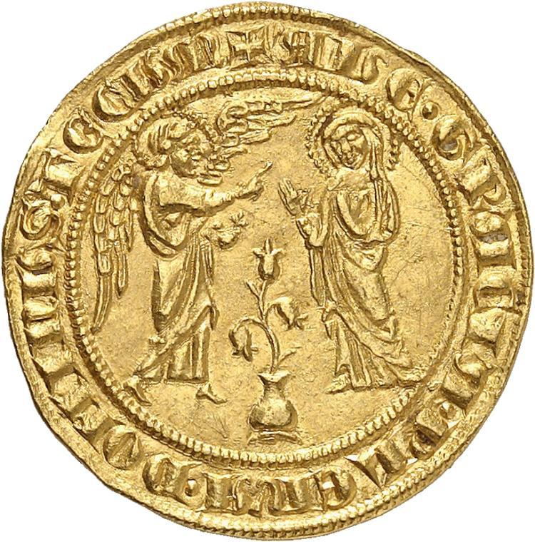 ITALIE Sicile, Charles Ier d'Anjou (1266-1278). Salut d'or, Naples.