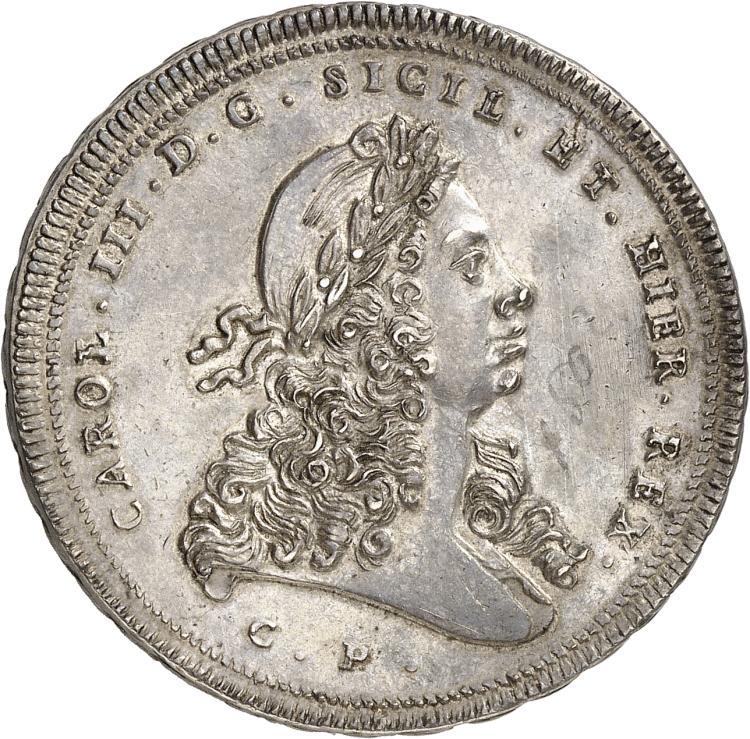 ITALIE Sicile, Charles III (1720-1734). 30 Tari 1733, Palerme.