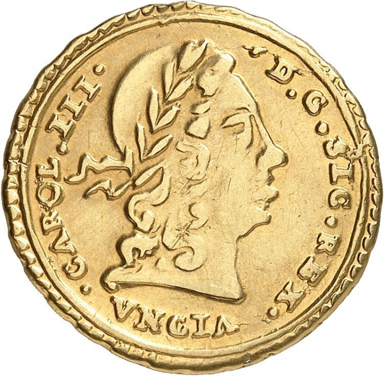 ITALIE Sicile, Charles III (1720-1734). Once 1734.