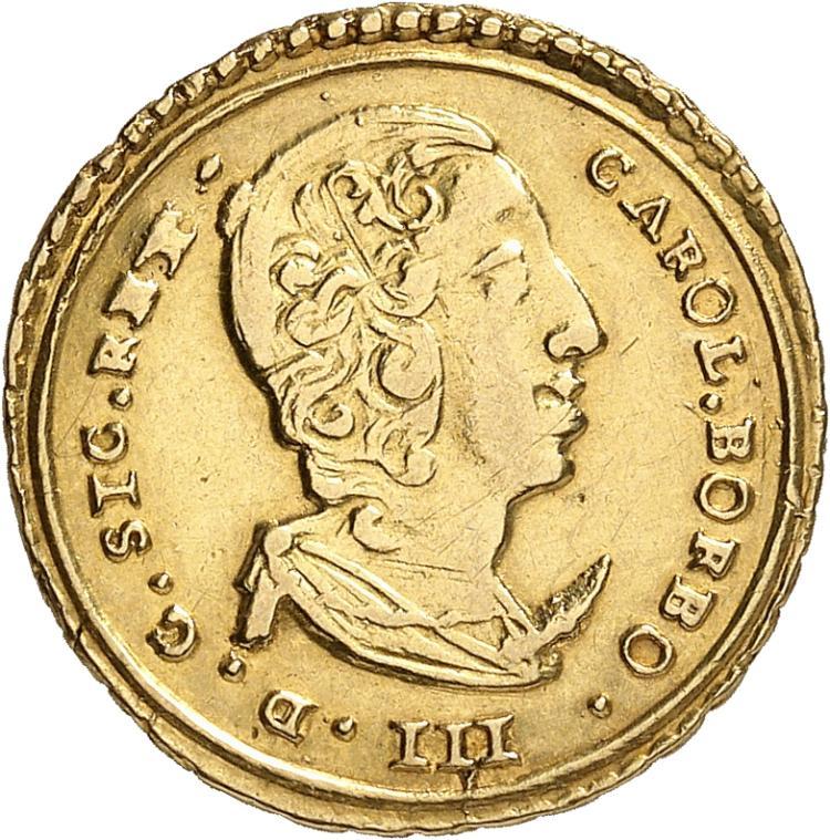 ITALIE Sicile, Charles de Bourbon (1734-1759). Once 1734.