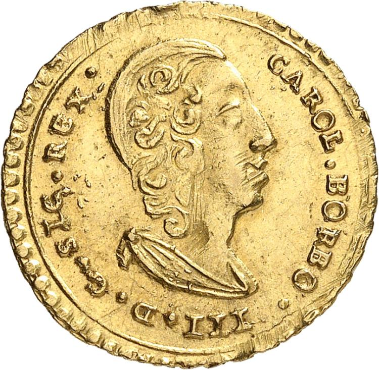 ITALIE Sicile, Charles de Bourbon (1734-1759). Once 1735.