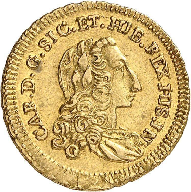 ITALIE Sicile, Charles de Bourbon (1734-1759). Once 1736.