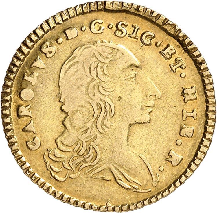 ITALIE Sicile, Charles de Bourbon (1734-1759). Once 1758.