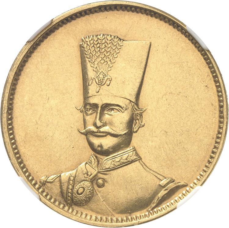 IRAN Nasseredin Shah (1848-1896). 10 Tomans Ier type 1311 (1894).