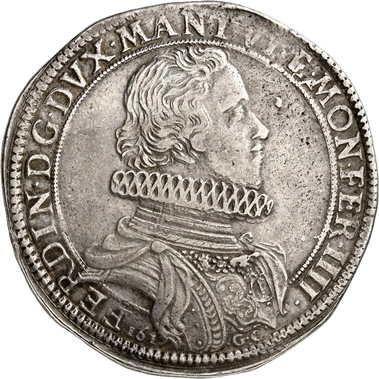 ITALIE Mantoue, Casale, Ferdinand de Gonzague (1612-1626). Ducatone 1617.