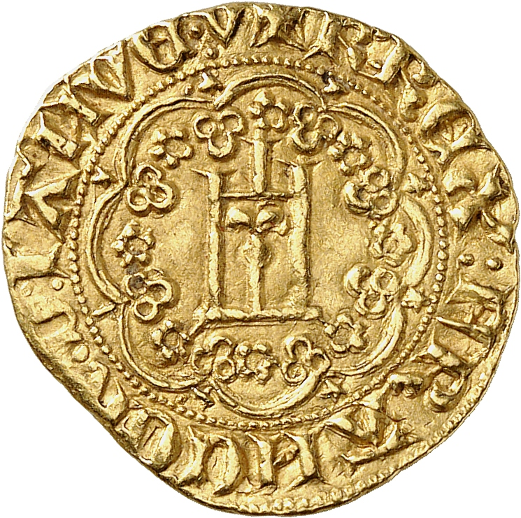 ITALIE Gênes, Charles VI roi de France (1396-1409). Génois d'or.