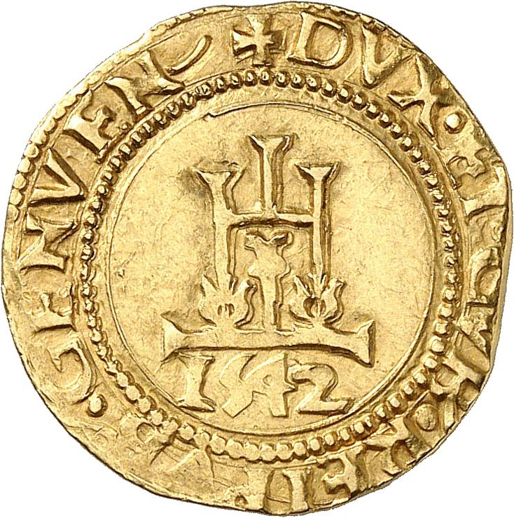 ITALIE Gênes, Doges Biennaux (1541-1637). Scudo 1542.