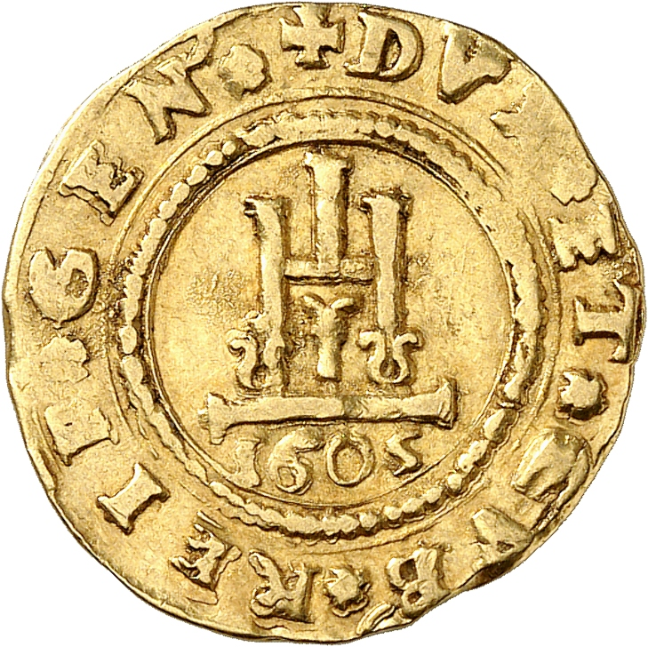 ITALIE Gênes, Doges Biennaux (1541-1637). Scudo 1605.