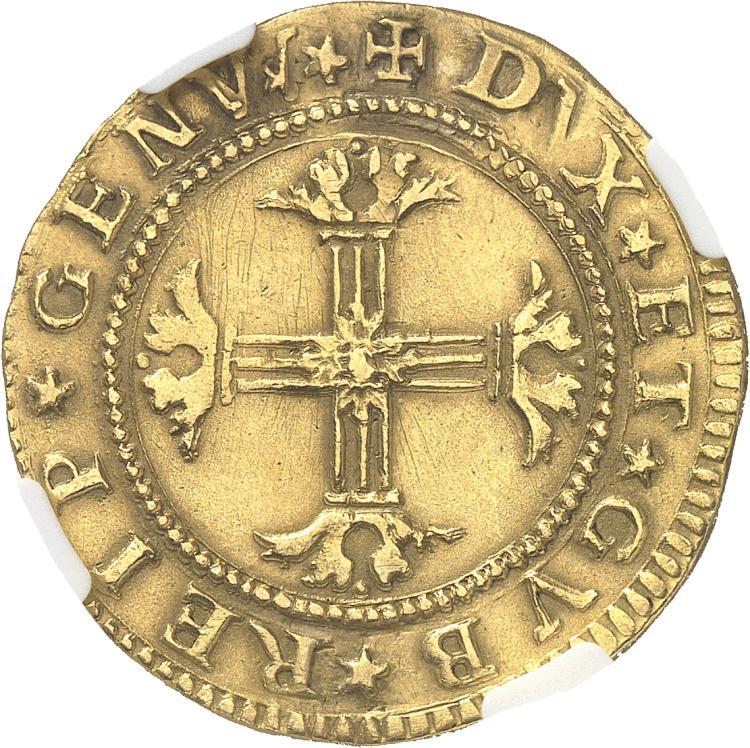 ITALIE Gênes. 2 Doppie 1655.