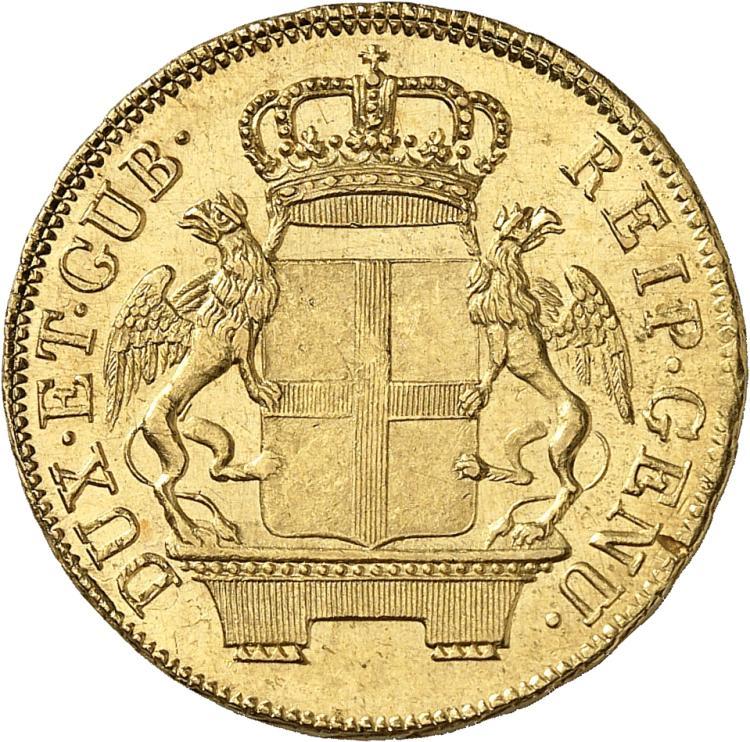 ITALIE Gênes, République (1528-1797). 48 lire 1796.