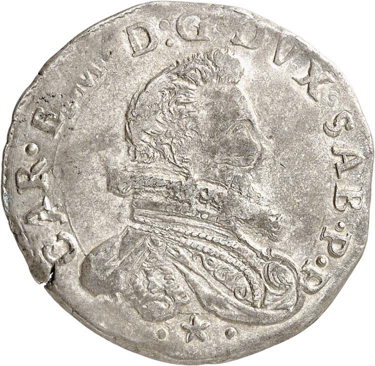 ITALIE Savoie, Charles Emmanuel Ier (1580-1630). 2 fiorini 1617, Turin.