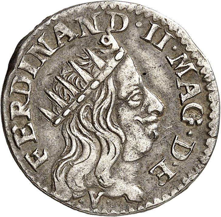 ITALIE Livourne, Ferdinand II Médicis (1621-1670). Luigino 1664.