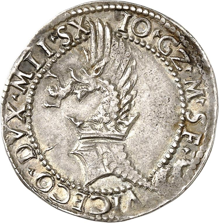 ITALIE Milan, Giovanni Galeazzo Maria Sforza, régence de Ludovico Maria Sforza (1559-1580). Gros.