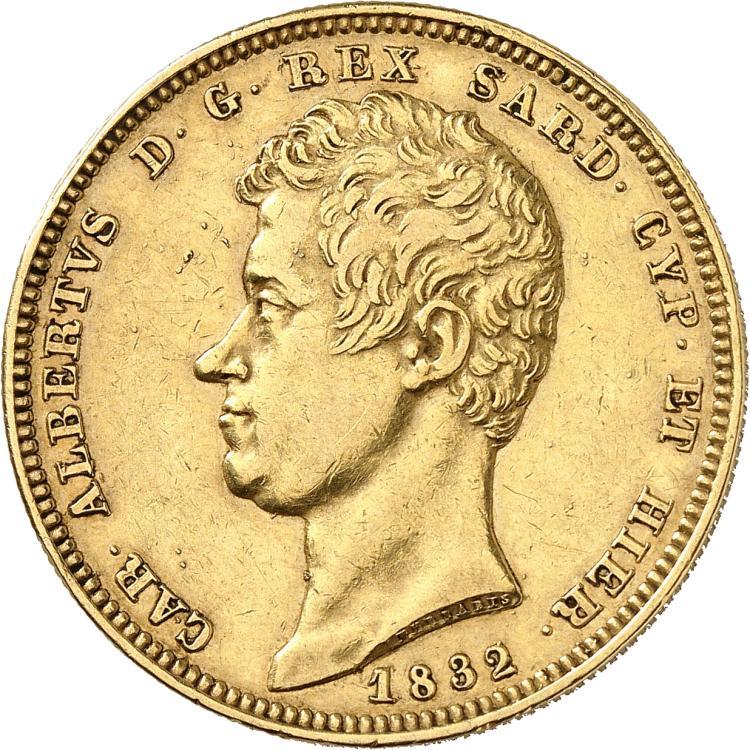 ITALIE Charles Albert (1831-1849). 100 lire 1832, Gênes.