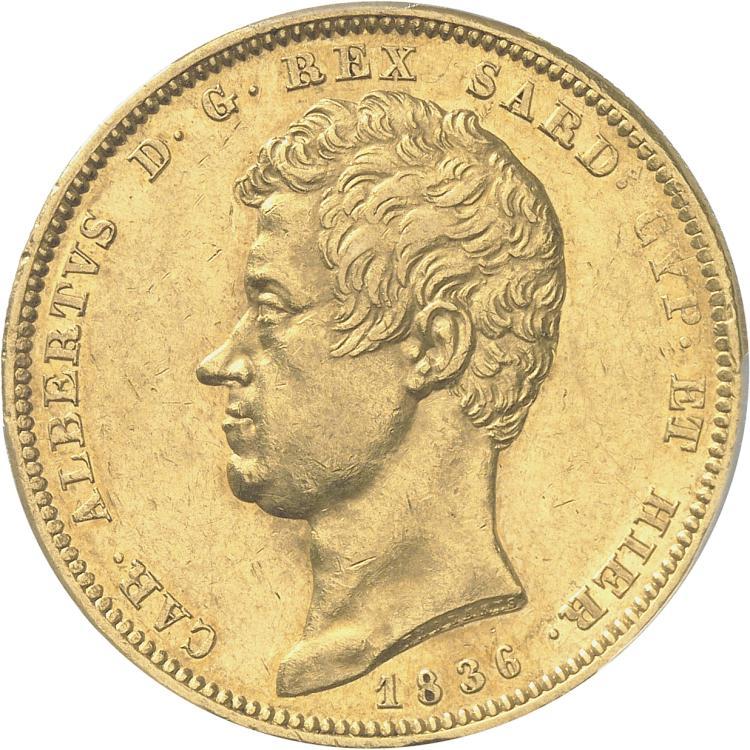 ITALIE Charles Albert (1831-1849). 100 lire 1836, Gênes.