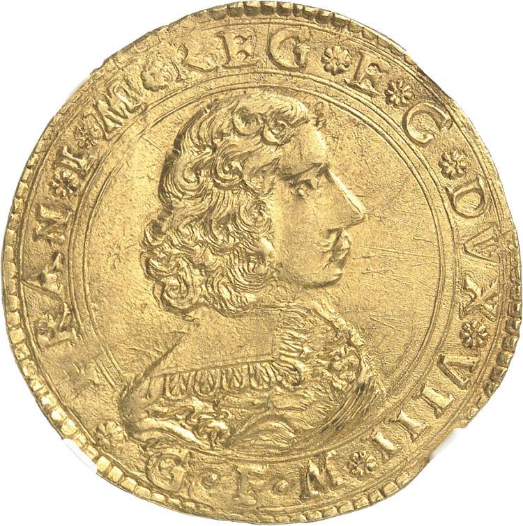ITALIE Modène, François d'Este (1629-1658). 4 scudi.