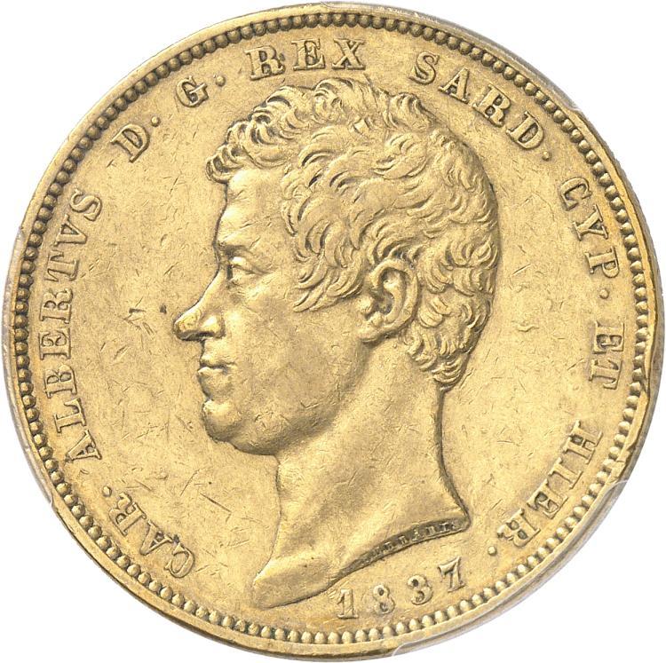 ITALIE Charles Albert (1831-1849). 100 lire 1837, Turin.
