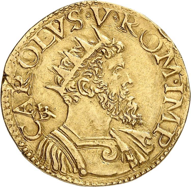 ITALIE Naples, Charles Quint (1516-1554). Doppia.