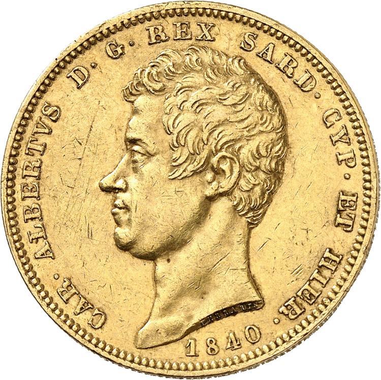 ITALIE Charles Albert (1831-1849). 100 lire 1840, Gênes.