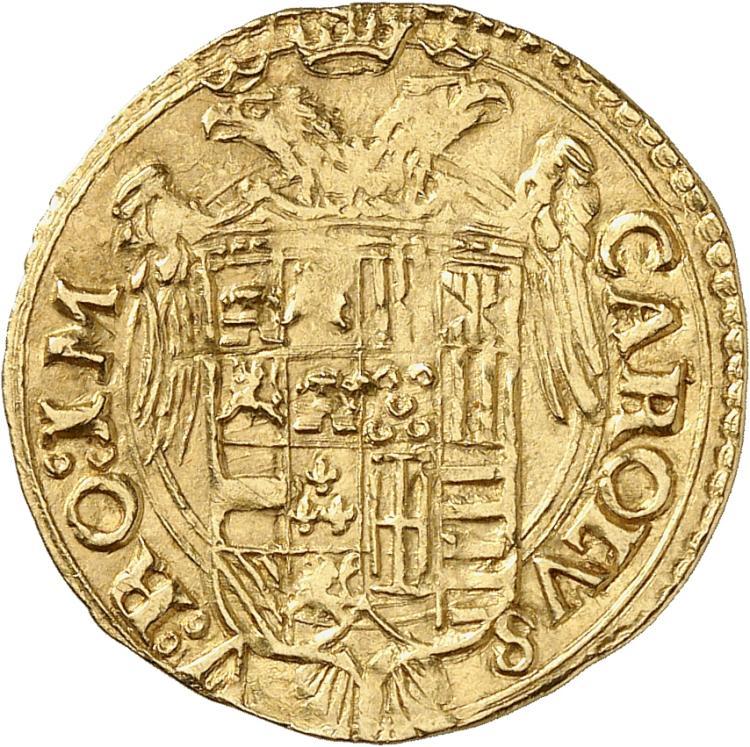 ITALIE Naples, Charles Quint (1516-1554). Scudo.