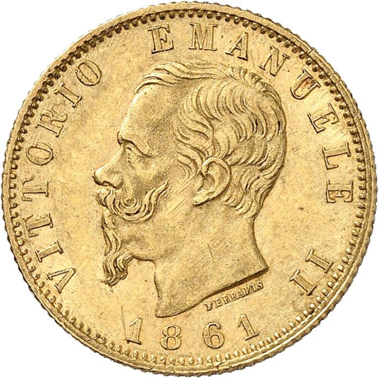 ITALIE Victor Emmanuel II (1861-1878). 20 lire 1861, Turin.